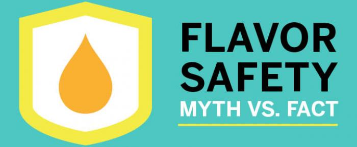flavor safety myth vs fact graphic