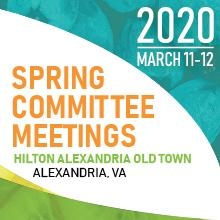 2020 Spring Committee Meetings